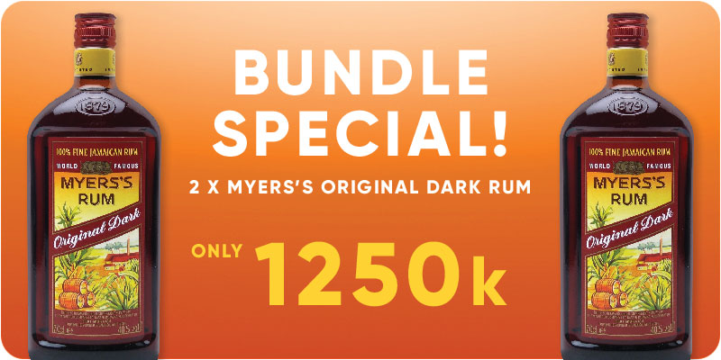 BUNDLE SPECIAL! - 2 x Myers Original Dark Rum 750ml