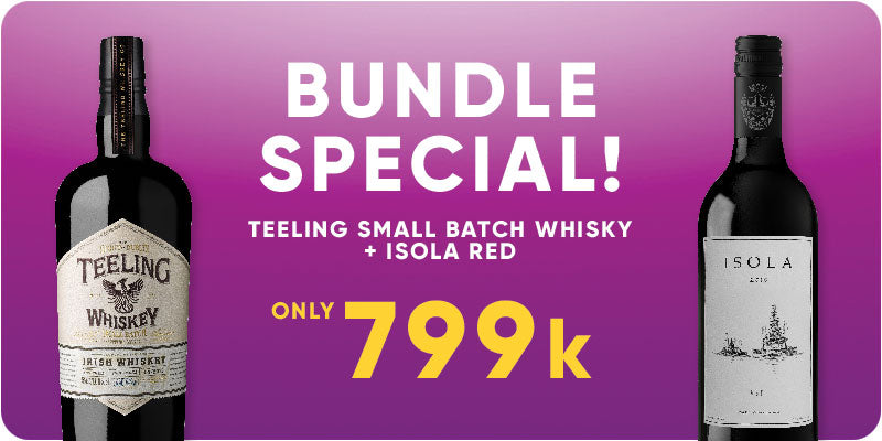 BUNDLE SPECIAL! - Teeling Small Batch Whisky 700ml + Isola Red Wine 750ml