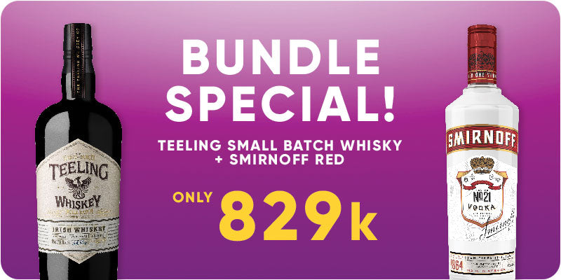 BUNDLE SPECIAL! - Teeling Small Batch Whisky 700ml + Smirnoff 750ml