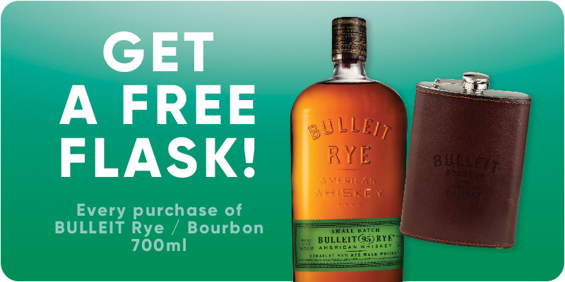 Bulleit Rye / Bourbon 700ml with free gift!