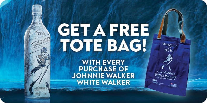 Johnnie Walker White Walker - 700ml with free gift!