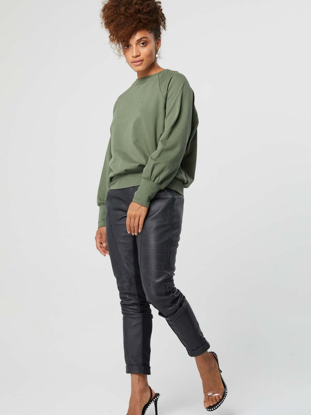 OnceWas Observer Side Logo Ribbon Cotton Sweater
