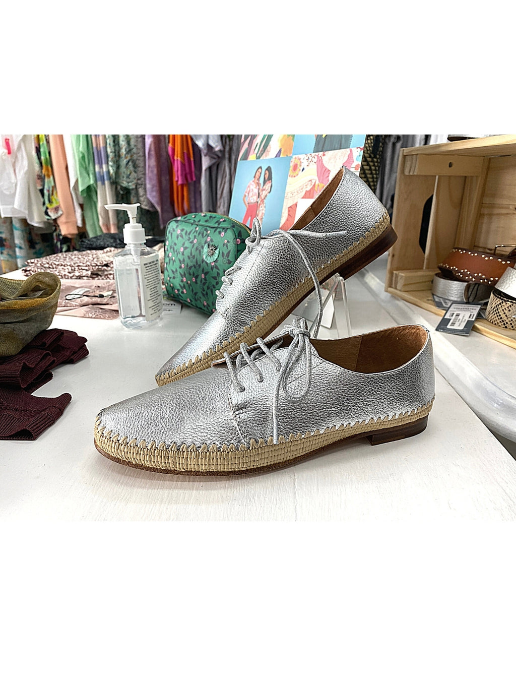Mollini Silver Valmo Leather Shoe