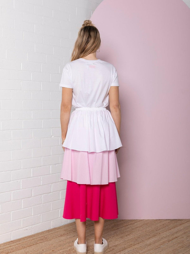 Bande Studio Tiered Colour Block Skirt | Pretty Pinks
