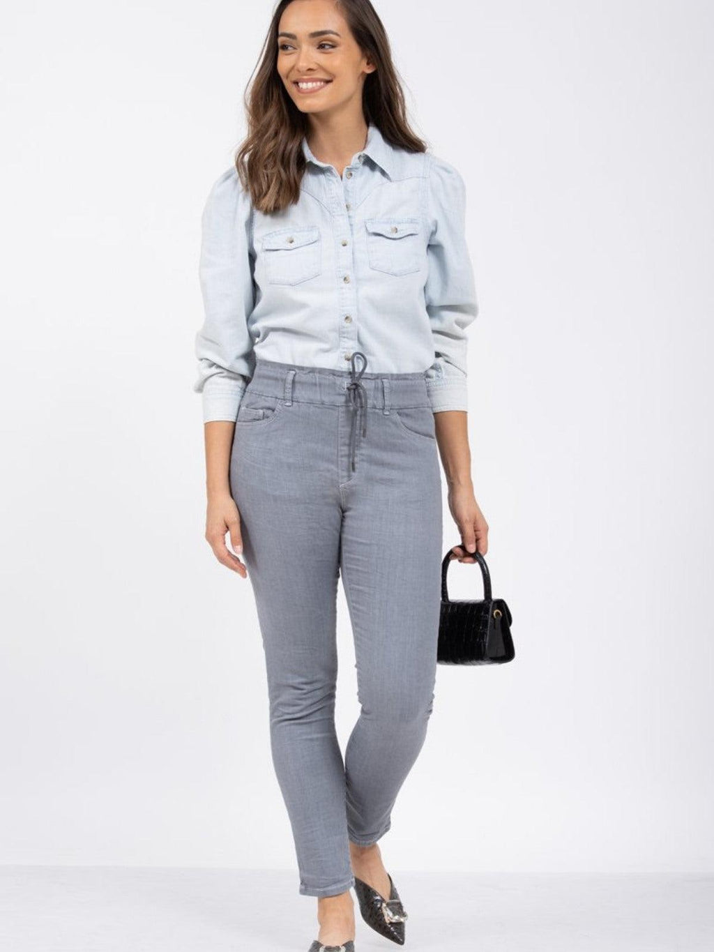 Naomi Grey Denim Pants