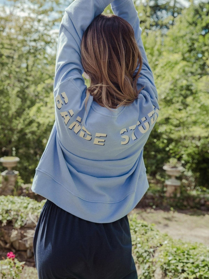 Bande Studio Peached Cotton Sweat | Cornflower Blue