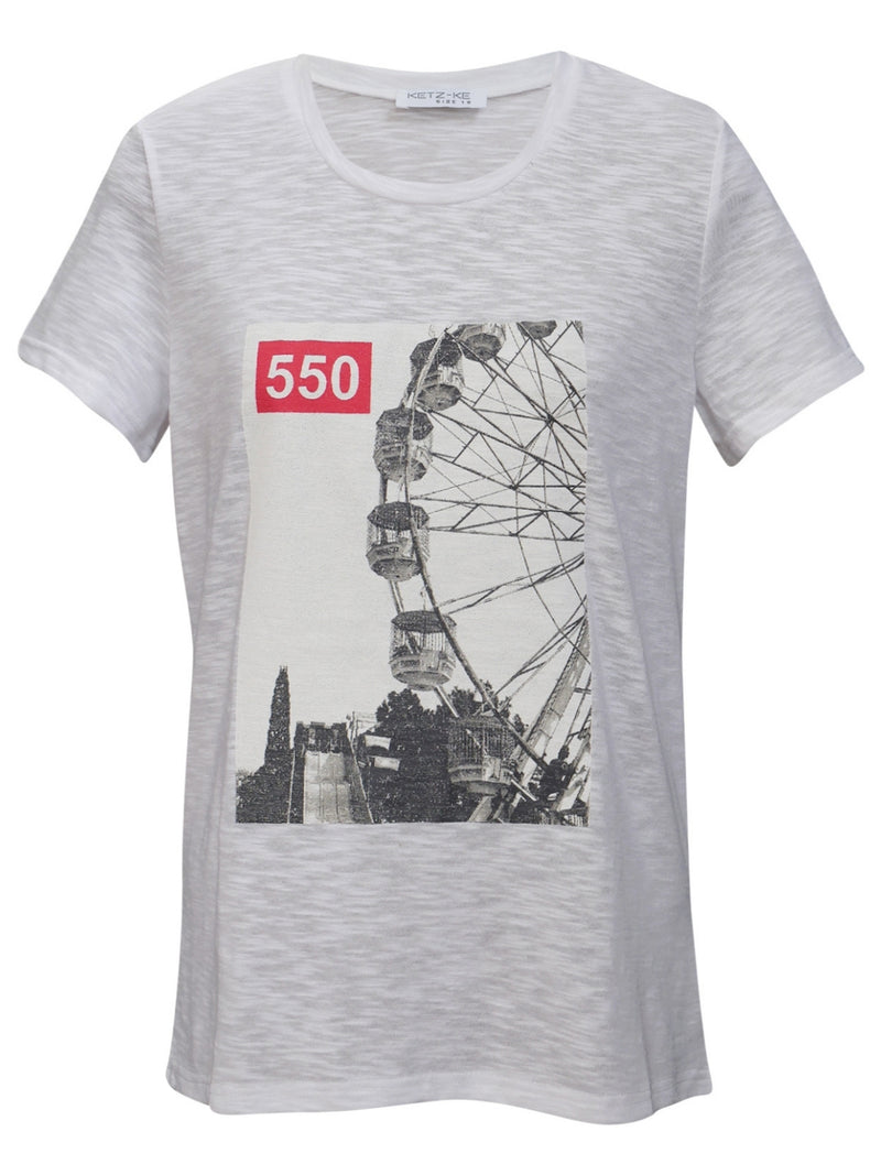 Ketz-ke Ferris Wheel Tee | White