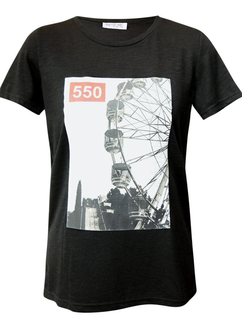 Ketz-ke Ferris Wheel Tee | Black