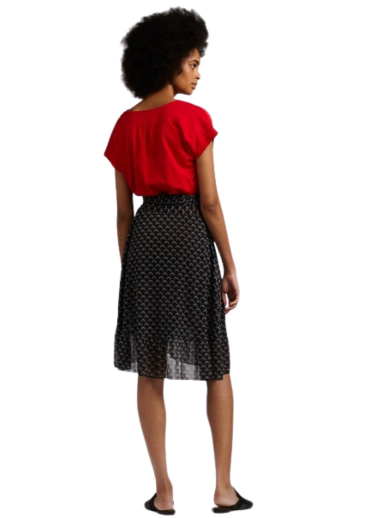 Sandwich Wrap Skirt With Ruching