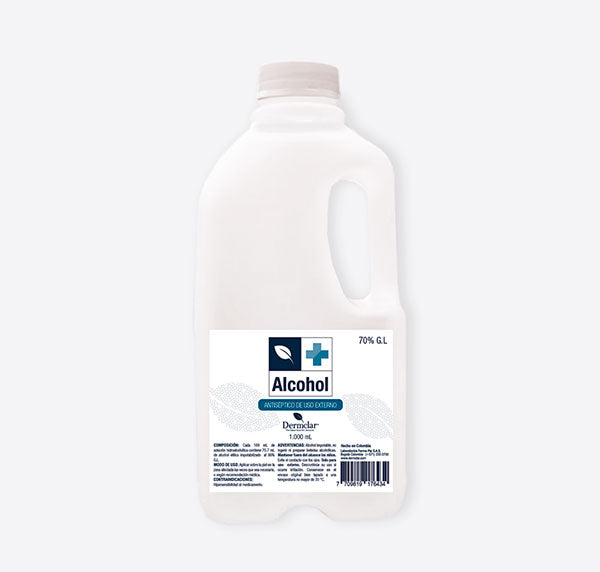 Alcohol antiséptico 70%  1000ml