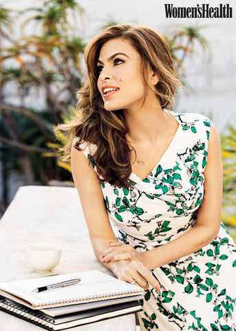 Eva Mendes Wearing Earthy Chic Necklace