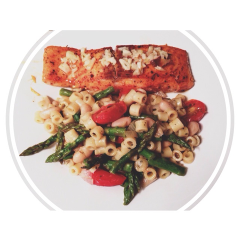 Salmon and paste ragout recipe