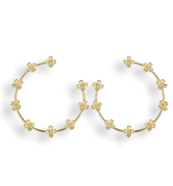 Daisy Hoops Medium