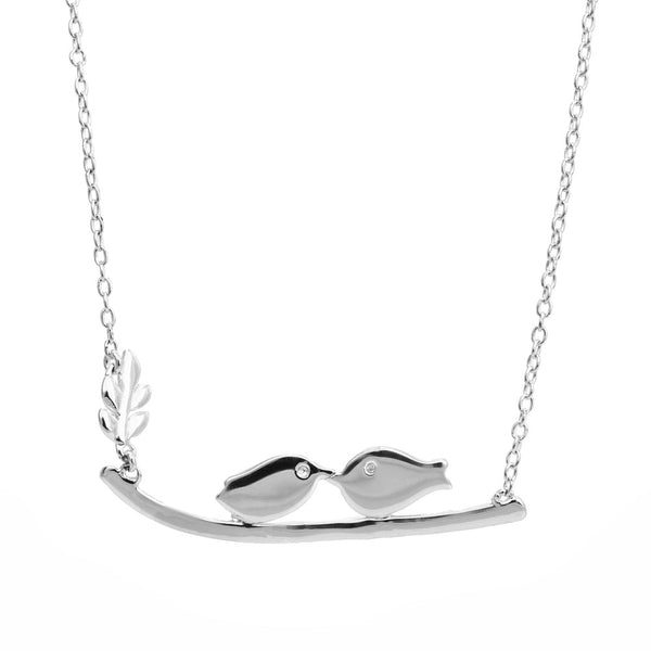 Lovebird Branch Necklace