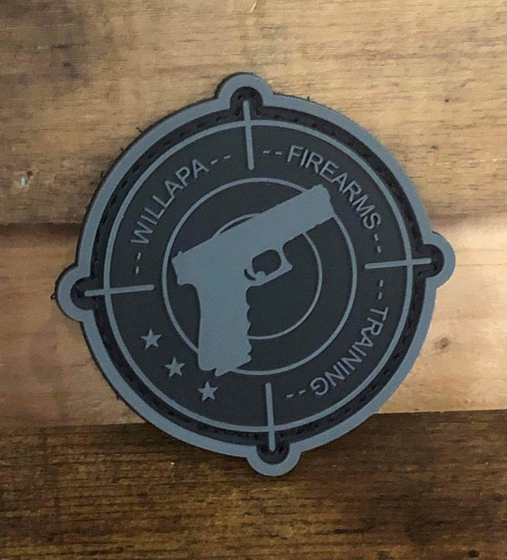 WILLAPA FIREARMS TRAINING VELCRO MORALE PATCH
