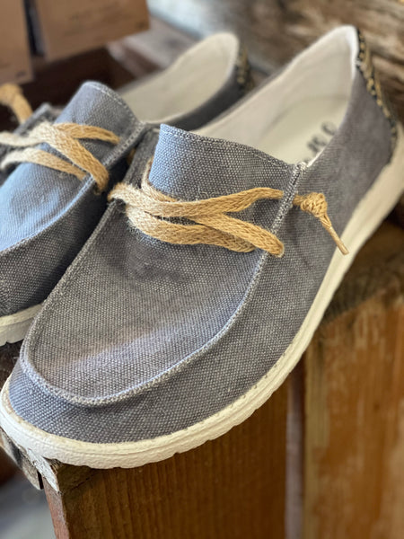 GYPSY JAZZ DUSTY BLUE LOAFER STYLE SHOES