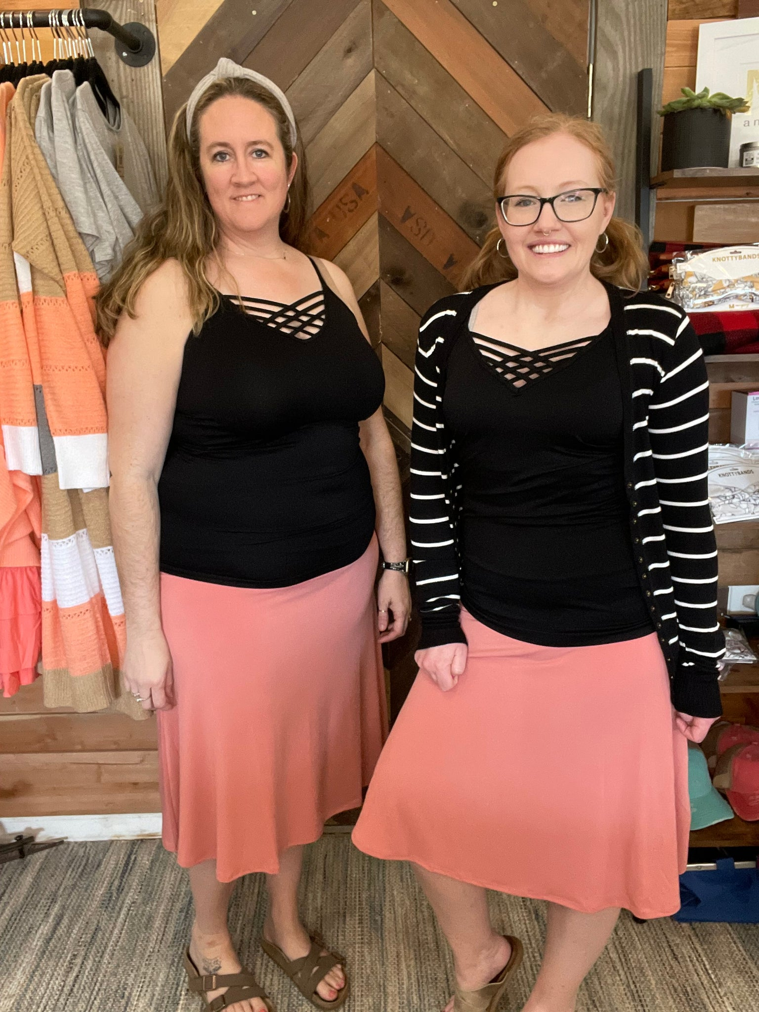 ASH ROSE FIT AND FLARE SKIT BY ZENANA- PLUS/REG