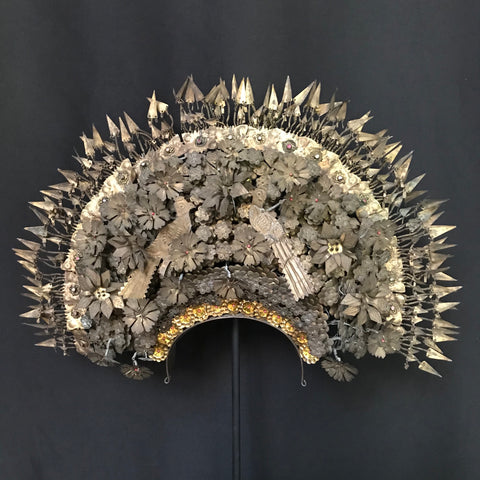 antique indonisian ceremonial headdress C19th