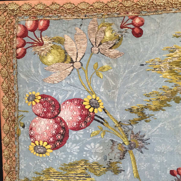 Silk Brocade Panel With Crest, France C18th