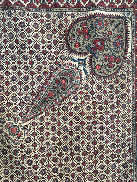 detail fine kalamkari work boteh C19th
