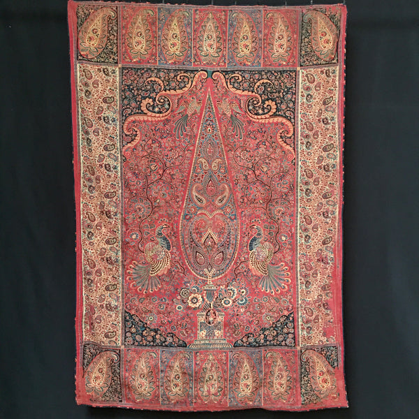 C19th 'Manchester' Print Hanging of Asian Palampore Kalamkari