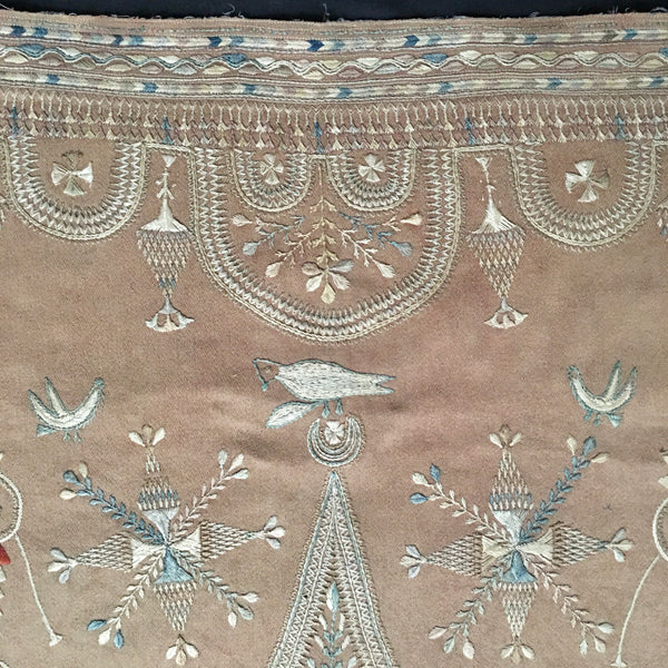 Embroidered Woman's shawl Tunisia Early 20th Century