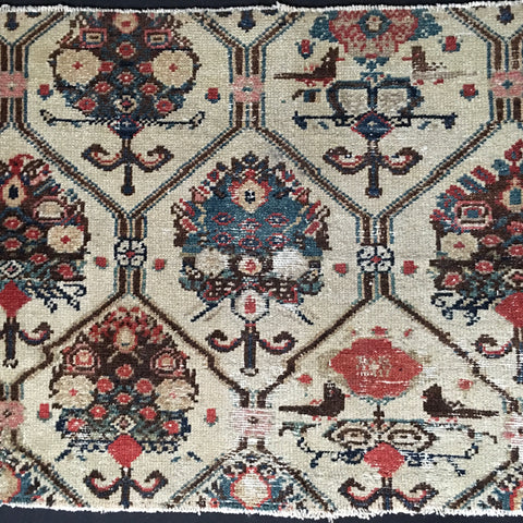 Antique Hamadan Rug Fragment C19th