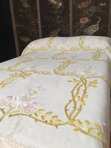 Glasgow School Arts arts Crafts Era Embroidered Bedcover
