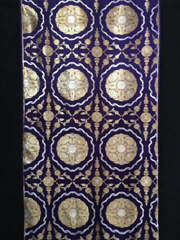 Antique Banarasi Gold and Silver Tissue Silk Sari