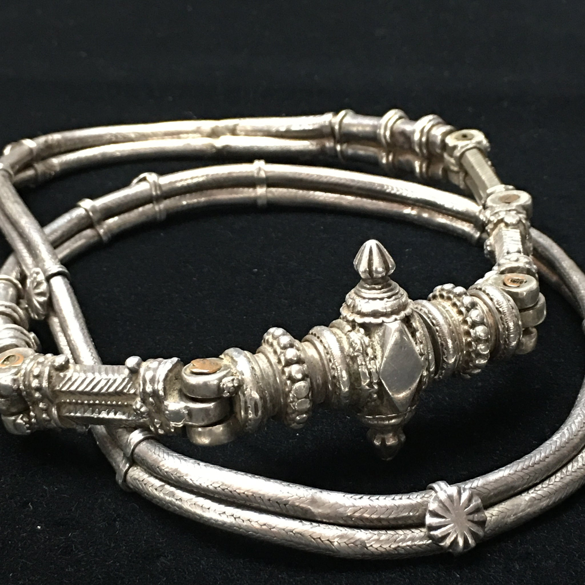 Antique Indian Tribal Silver Belt C19th
