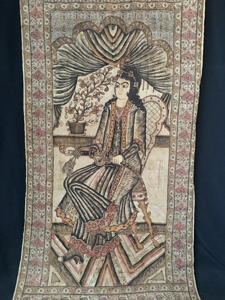 Kalamkari Hanging with Seated Figure C19th
