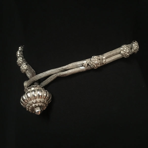 Antique High Grade Repoussè Silver Tribal Belt, Northern India
