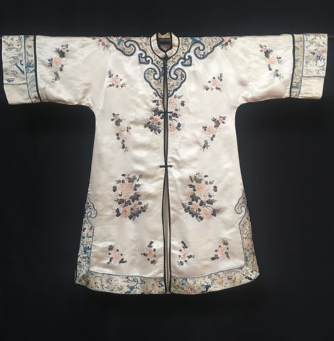 Chinese Embroidered Silk Summer Robe Coat C19th