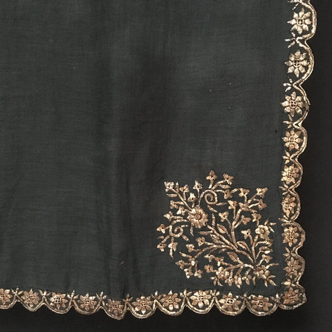 Woman's Ottoman Shawl with Gold Gilt Embroidery C19th