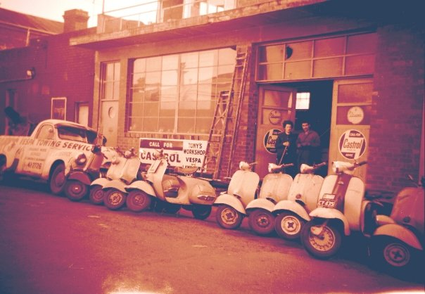Retro Vespa House from the late 1950's