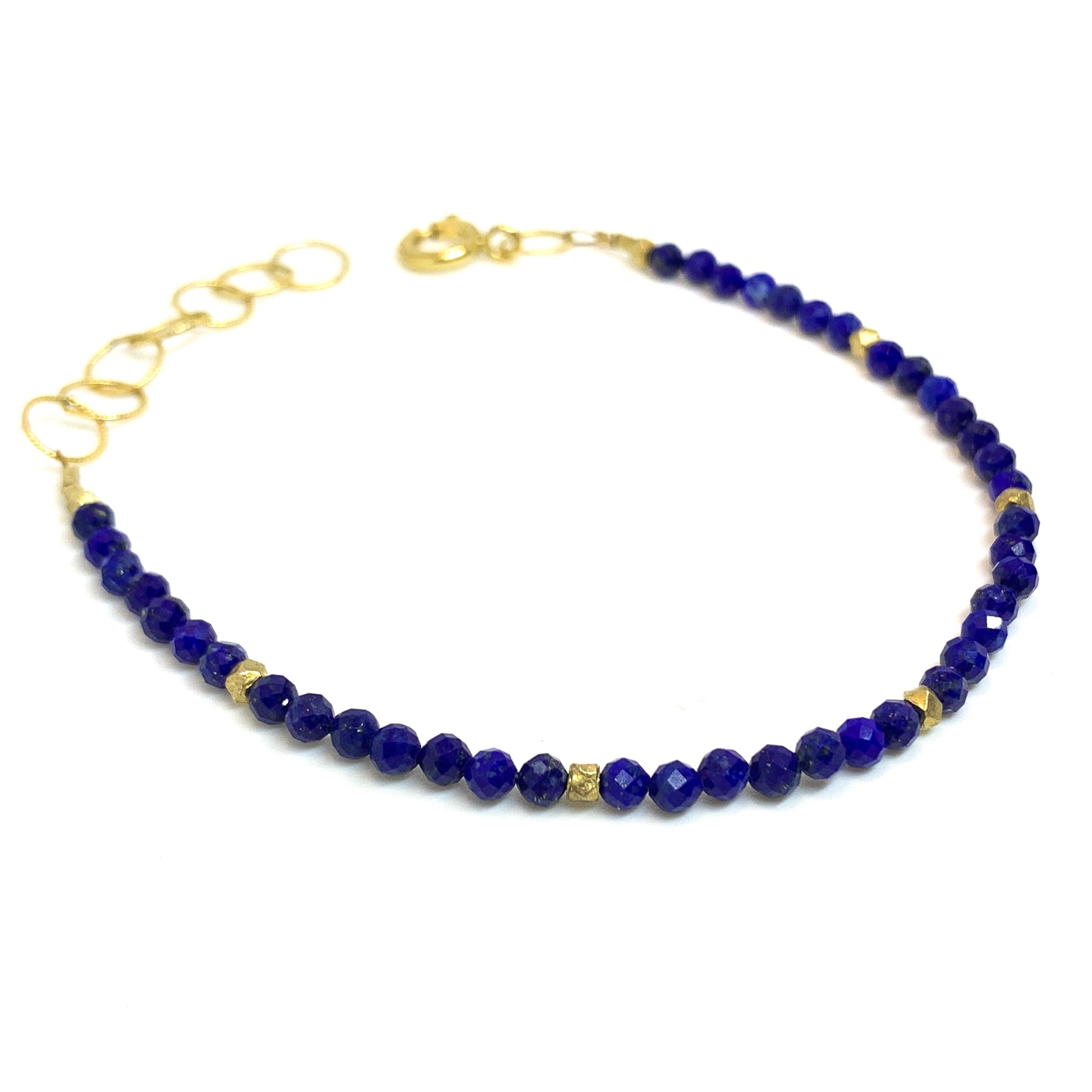 facetted Lapis Lazuli bracelet by eve black jewelry, Hawaii