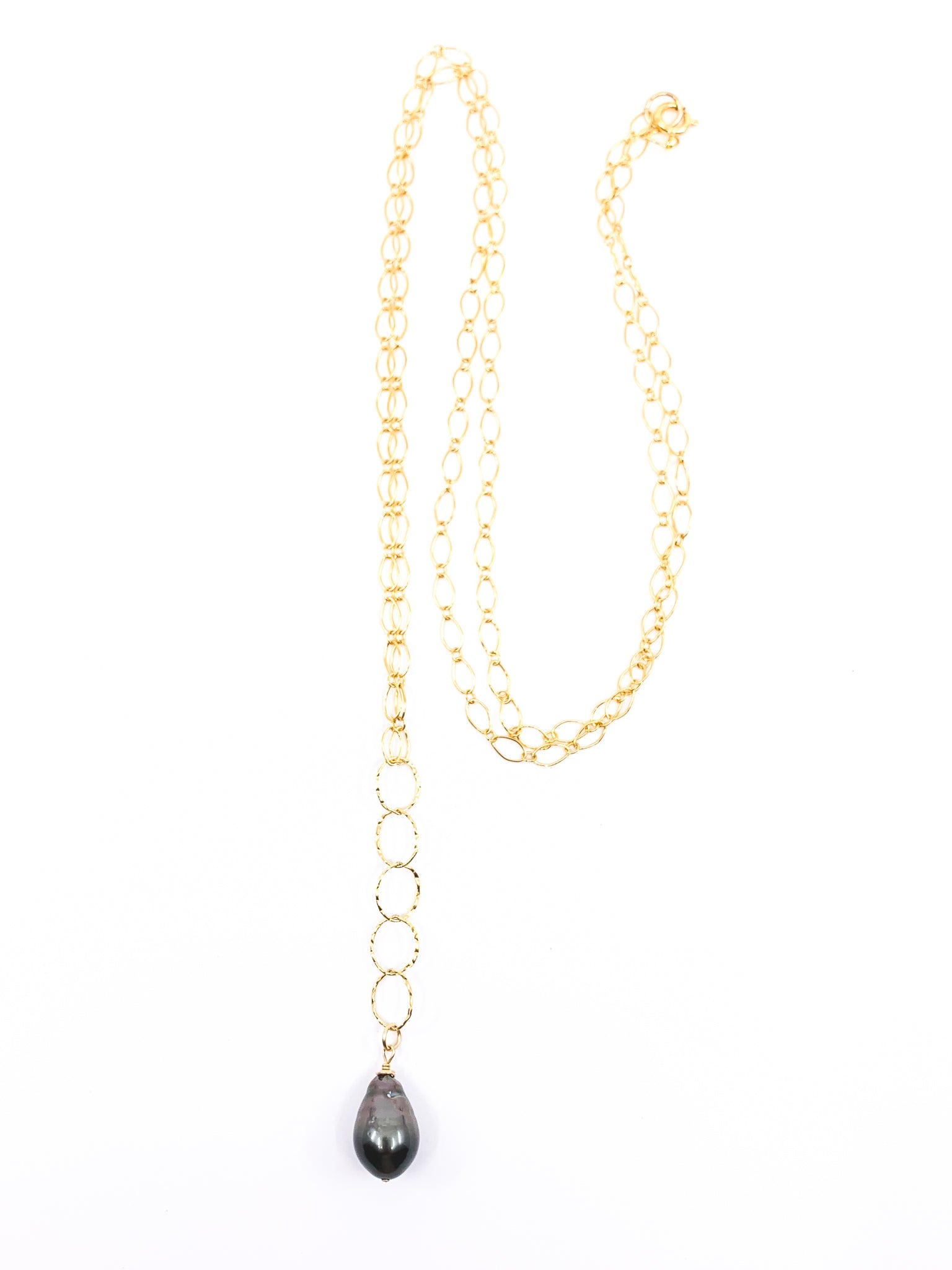 single tahitian pearl long necklace by eve black jewelry made in hawaii
