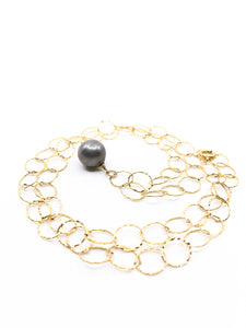 tahitian pearl large gold chain necklace by eve black jewelry made in hawaii