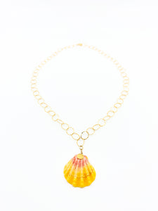 hawaiian sunrise shell gold chain necklace by eve black jewelry made in hawaii