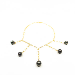 Tahitian pearl gold collar necklace by eve black jewelry made in hawaii