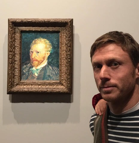 Philippe attending the Blockbusting Van Gogh exhibition Melbourne 2017
