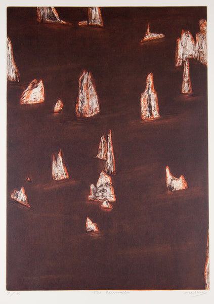 Jeffrey Makin 'The Pinnacles' - original etching