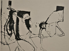 Load image into Gallery viewer, Yosl Bergner 'Composition with Figures 1956'