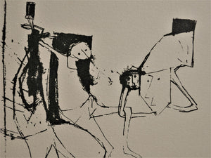 Yosl Bergner 'Composition with Figures 1956'