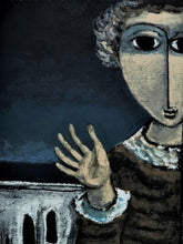 Load image into Gallery viewer, Yosl Bergner 'Girl waving, from The Judgement of Paris triptych'