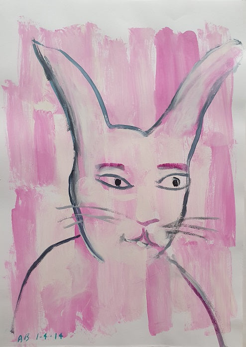 Auguste Blackman 'Baby Pink Rabbit'