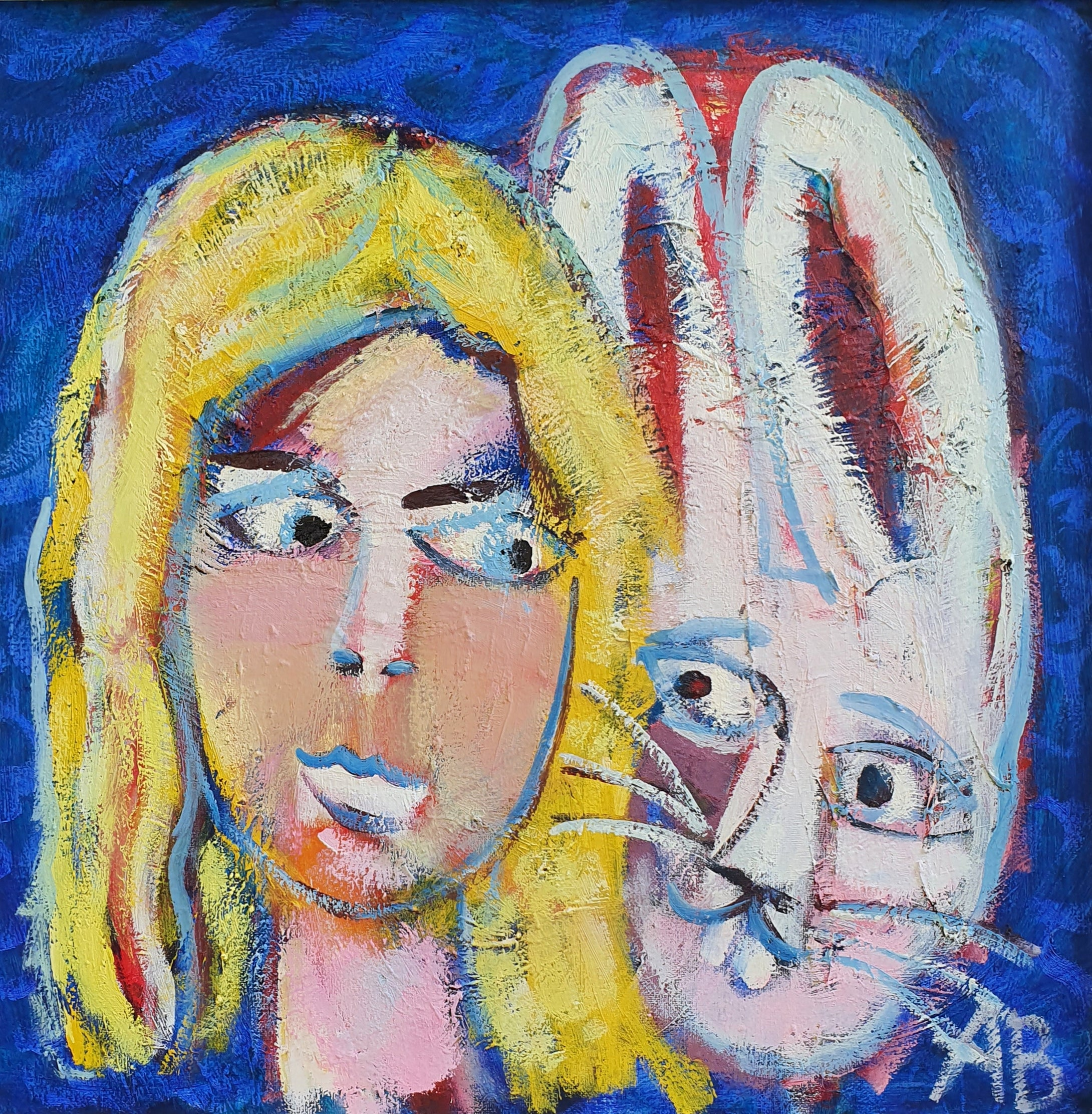 Auguste Blackman 'Bunny Alice' - oil on canvas