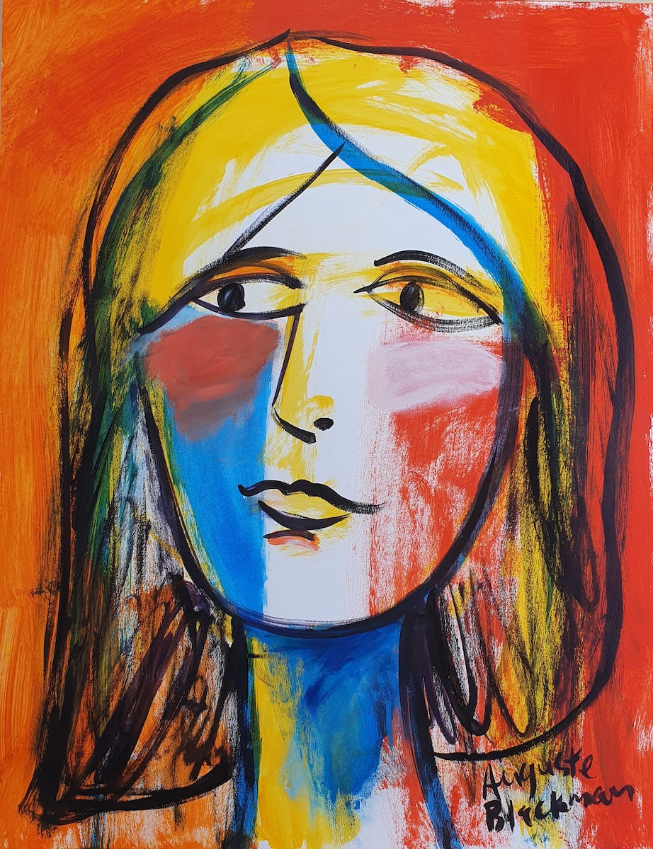Auguste Blackman 'Face in Colours'