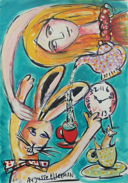 Auguste Blackman 'Morning Tea' - acrylic on paper