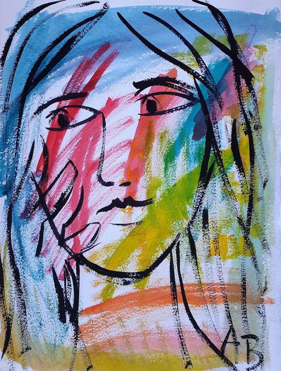 Auguste Blackman 'Woman in Colours'
